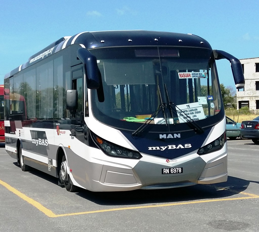The MAN A80 City bus is powered by a 280 hp (206 kW) diesel engine and can carry up to 41 passengers.